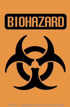 "Biohazard Warning 2"" X 3"" Magnet"