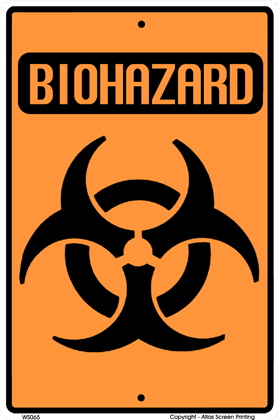Biohazard Warning Sign - Front