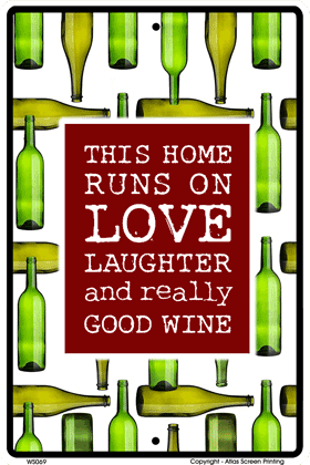 Good Wine Sign - Front