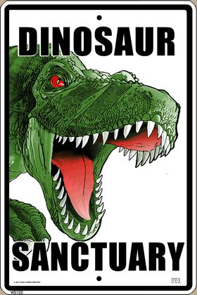 Dinosaur Sanctuary Sign