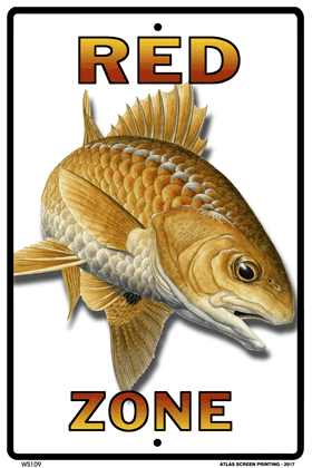 Red (Redfish) Zone Sign