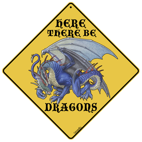 Here There Be Dragons - Front