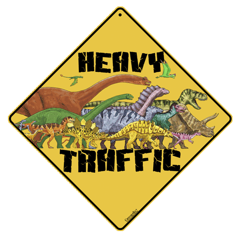 Heavy Traffic Crossing Sign - Front