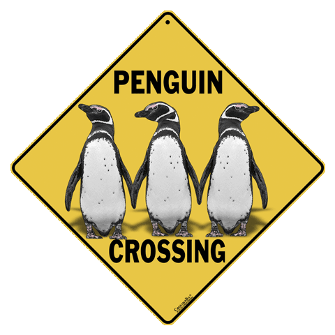Penguin Crossing Sign - Front
