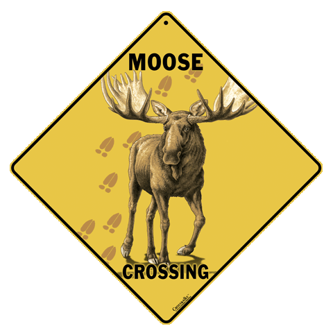Moose Crossing Sign - Front