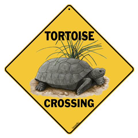 Tortoise Crossing Sign - Front