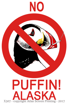 "No Puffin 2"" X 3"" Magnet"