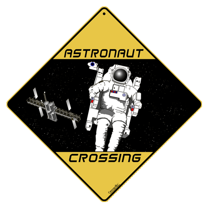 Astronaut Crossing Sign - Front