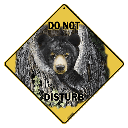 Do Not Disturb the Bear Sign