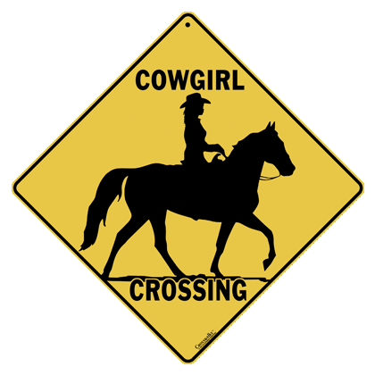 Cowgirl Crossing Sign