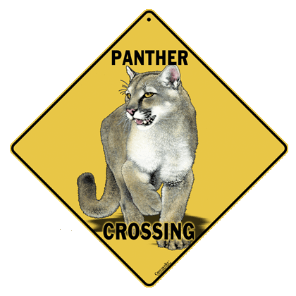 Panther Crossing Sign - Front