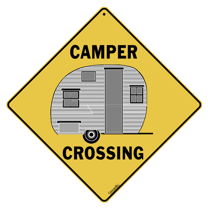 Camper Crossing Sign - Front