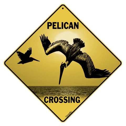 Pelican Crossing Sign - Front