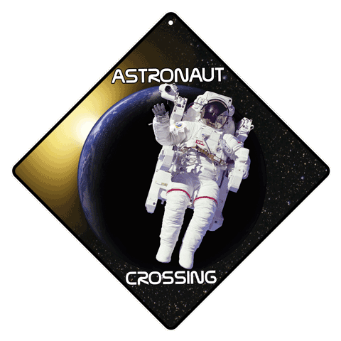 Astronaut Crossing Sign