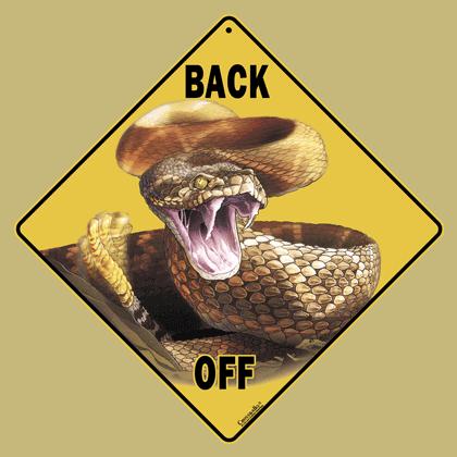 Back Off Rattler Sign