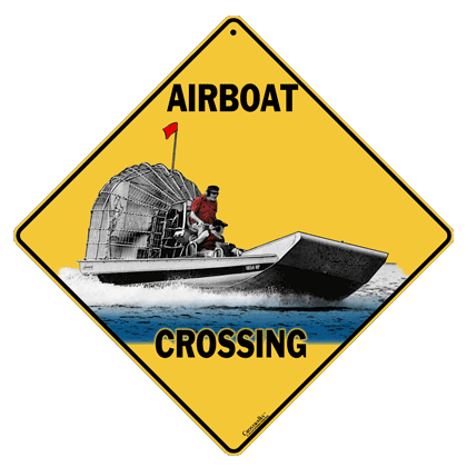 Airboat Crossing Sign