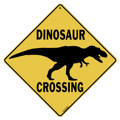 Dinosaur Silhouette Crossing