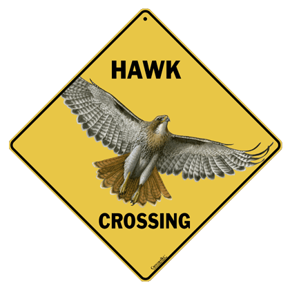 Hawk Crossing Sign