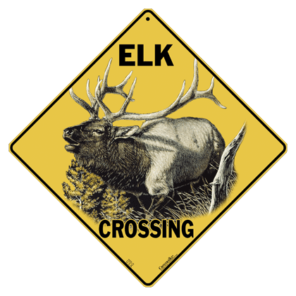 Elk Crossing Sign