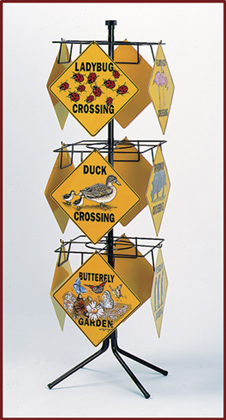 Crossing Sign Spinner Rack