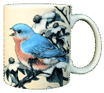 Bluebird Ceramic Mug - Back