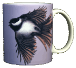 Chickadees Ceramic Mug - Back