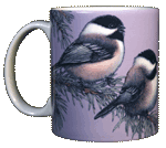 Chickadees Ceramic Mug - Front test8