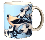 American Gold Finch Ceramic Mug - Back