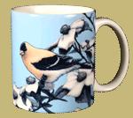 American Gold Finch Ceramic Mug - Back