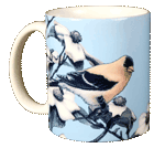 American Gold Finch Ceramic Mug