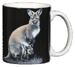 Wallaby Ceramic Mug - Back