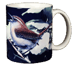 Carolina Wren Ceramic Mug - Back