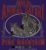 Zebra Pair Oval Template - Purple