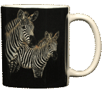 Zebra Pair Ceramic Mug - Back