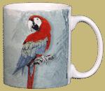 Green Wing Macaw Ceramic Mug - Back test8