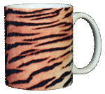 Tiger Stripes Ceramic Mug - Back