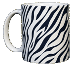 Zebra Stripes Ceramic Mug