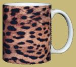 Leopard Skin Ceramic Mug - Back