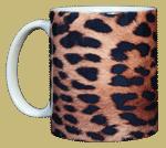 Leopard Skin Ceramic Mug - Front