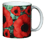 Poppies Ceramic Mug - Back