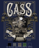 Vintage Steamtrain Custom Template - Navy
