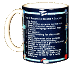 Top 10 Teacher Ceramic Mug - Front