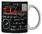Pi-Lingual Ceramic Mug - Back