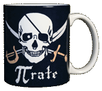 Pi-Rate Ceramic Mug - Back