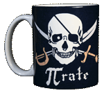 Pi-Rate Ceramic Mug - Front