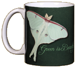 Green Is Beautiful Ceramic Mug - Front