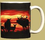 Twilight Elk Ceramic Mug - Back test8