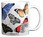 Exotic Butterflies Ceramic Mug - Back