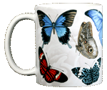 Exotic Butterflies Ceramic Mug - Front