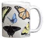 North American Butterflies Ceramic Mug - Back